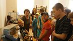 Экскурсия школьников в музей и мастерские колледжа
