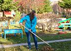 Акция по уборке территории детских садов